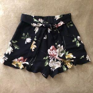 🆕Sz:S Floral Dark Blue Shorts